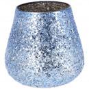 Glass wind light Namika, H16cm, blue